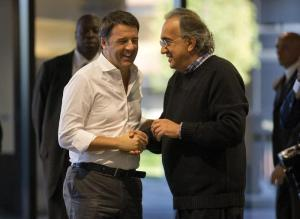 Fiat-Chrysler Group Hosts Italian Prime Minister at Fiat-Chrysler World Headquarters