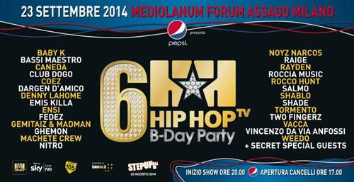 Hip Hop Tv – Hip Hop Day party: i più grandi artisti del rap italiano in un'unica serata al Palaforum