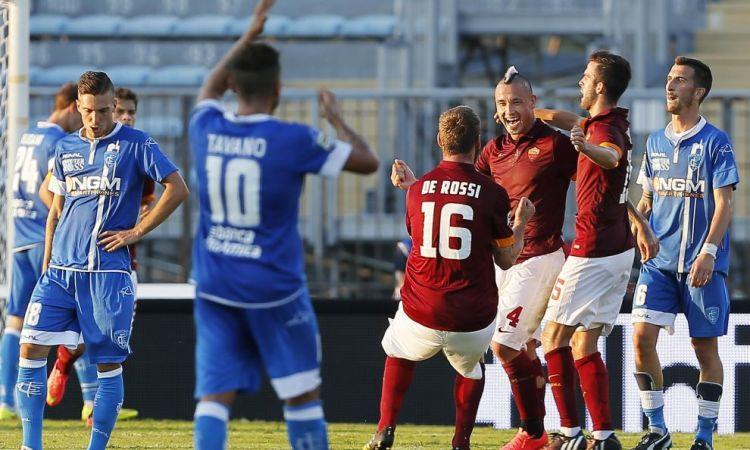 La Roma soffre e vince ad Empoli