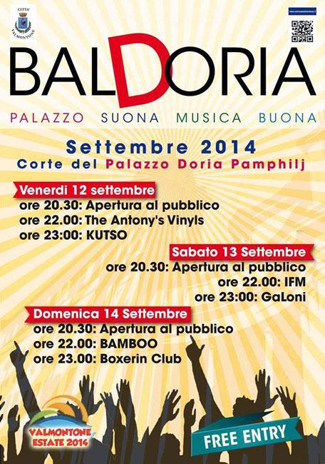 BalDoria, dal 12 al 14 settembre a Palazzo Doria Pamphilj di Valmontone