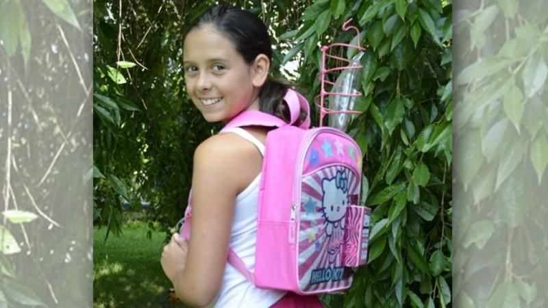 Kylie Simonds: la bimba malata di cancro che ha inventato uno zainetto per la chemioterapia