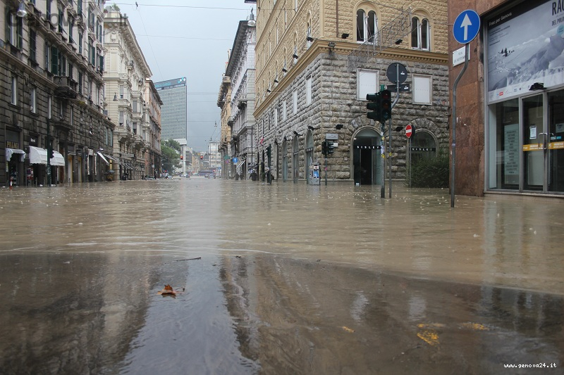 Ancora alluvione a Genova
