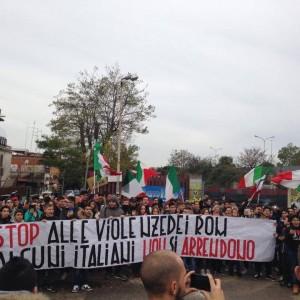 CasaPound e Blocco Studentesco in piazza contro i Rom, condanna dal Campidoglio