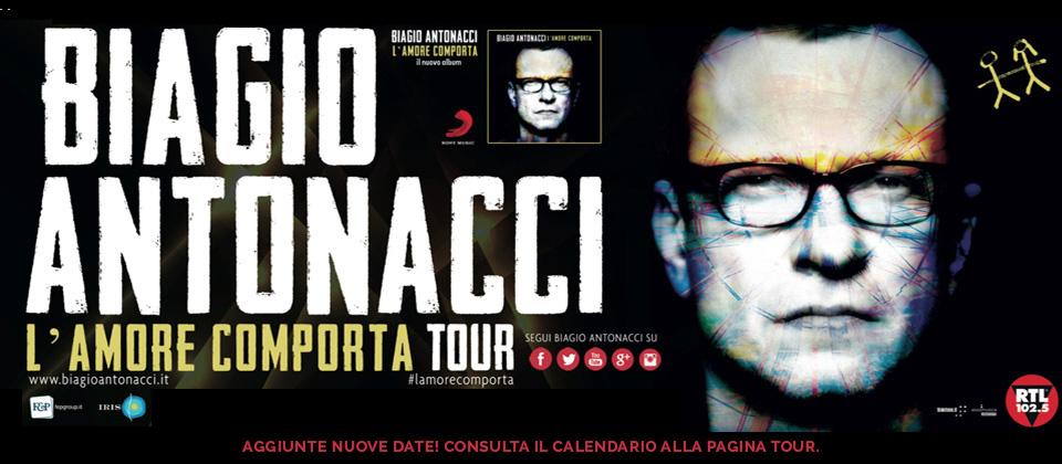 """Compleanno in musica per Antonacci: riparte il suo """"L'amore comporta tour 2014"""""""