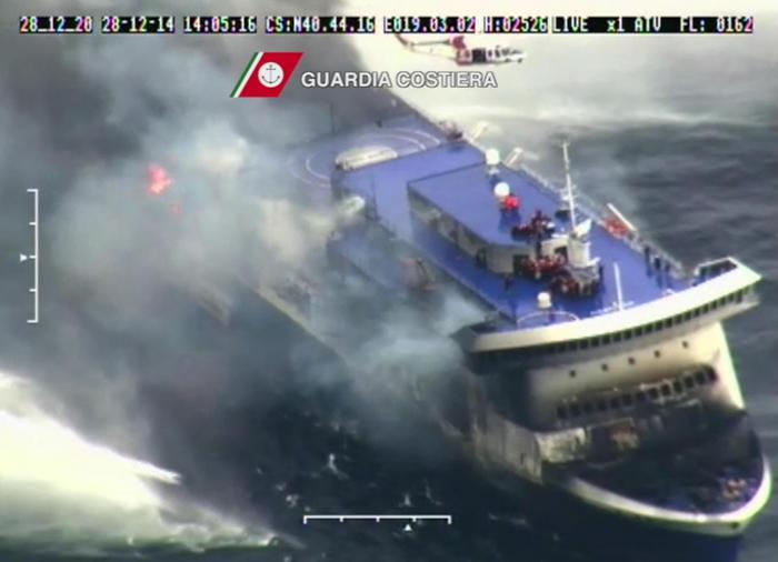 Norman Atlantic, trovata altra salma, 2 operai morti, si cercano ancora dispersi