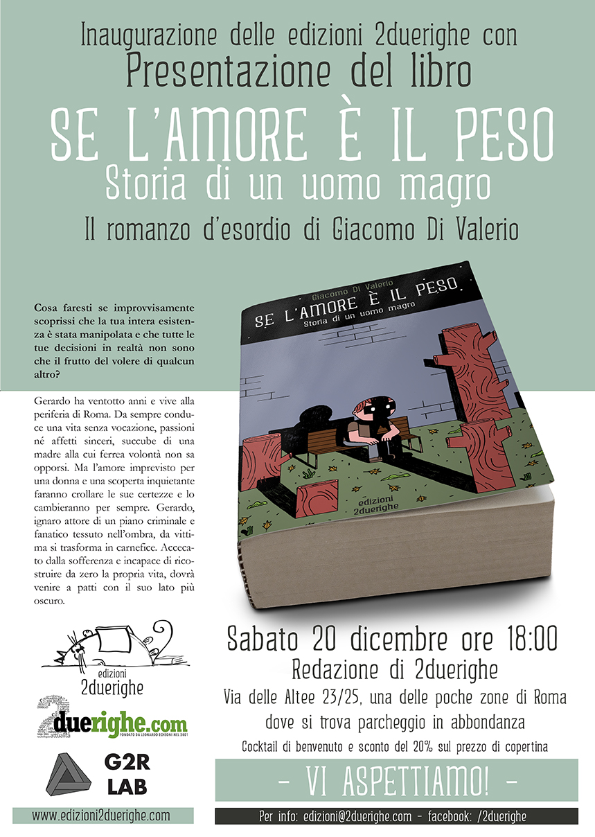 Inaugurazione edizioni 2duerighe e presentazione del libro di Giacomo Di Valerio