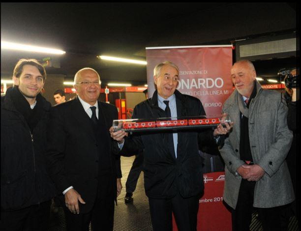 """""""Leonardo"""", il nuovo treno della metropolitana di Milano"""