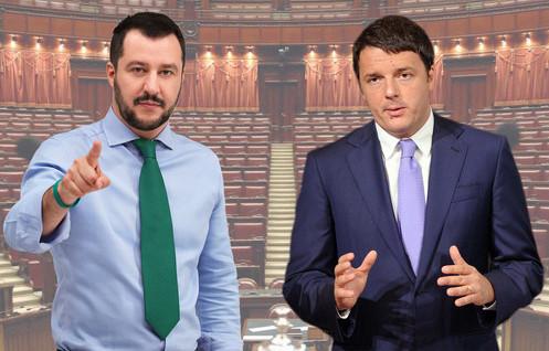 Salvini crea un movimento nazionale e sfida Renzi in tv