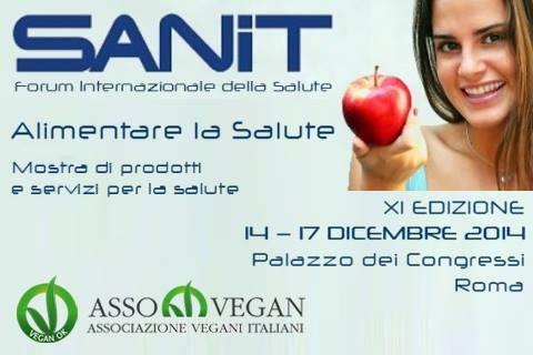 """Roma, Palazzo dei Congressi: """"Sanit"""" dal 14 al 17 dicembre, salute e mondo vegan"""