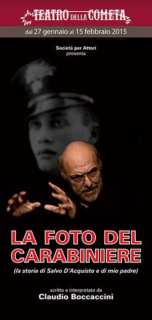 """""""La foto del carabiniere"""", la storia di Salvo D'Acquisto al Teatro della Cometa"""
