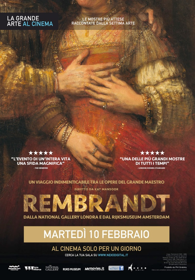 10 febbraio, «Rembrandt» al cinema solo per un giorno
