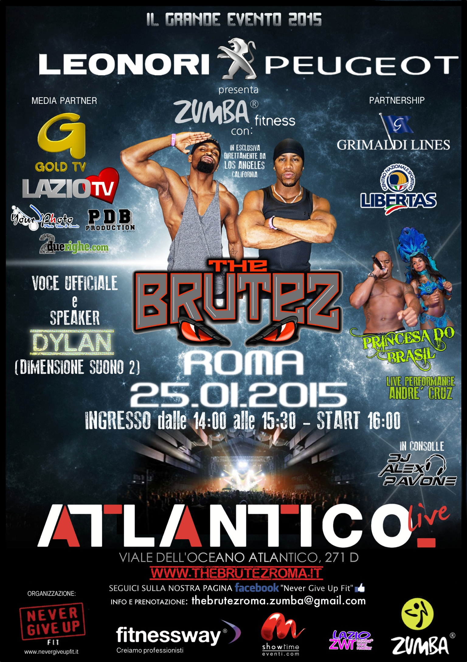 Zumba Fitness: THE BRUTEZ – 25 Gennaio 2015 Roma, Atlantico Live