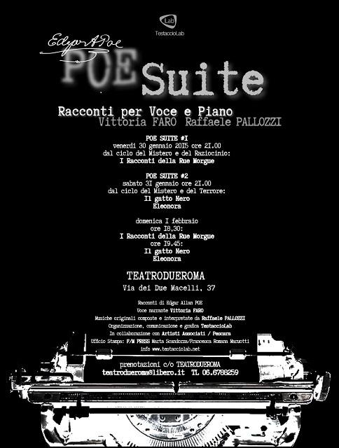 """""""Poe suite"""", racconti di Edgar Allan Poe per voce e piano al Teatro Due Roma"""
