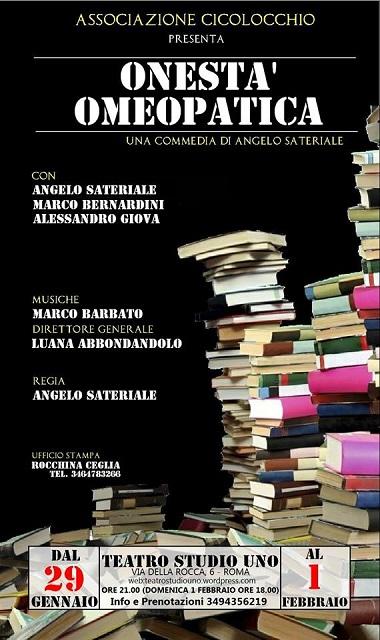 """""""Onestà Omeopatica"""", una  nuova commedia al Teatro Studio Uno di Roma"""