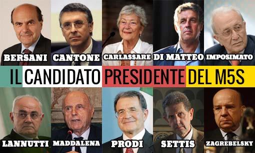 Quirinale: ecco i 10 candidati #PresidenteM5S. Domani si apre la votazione online