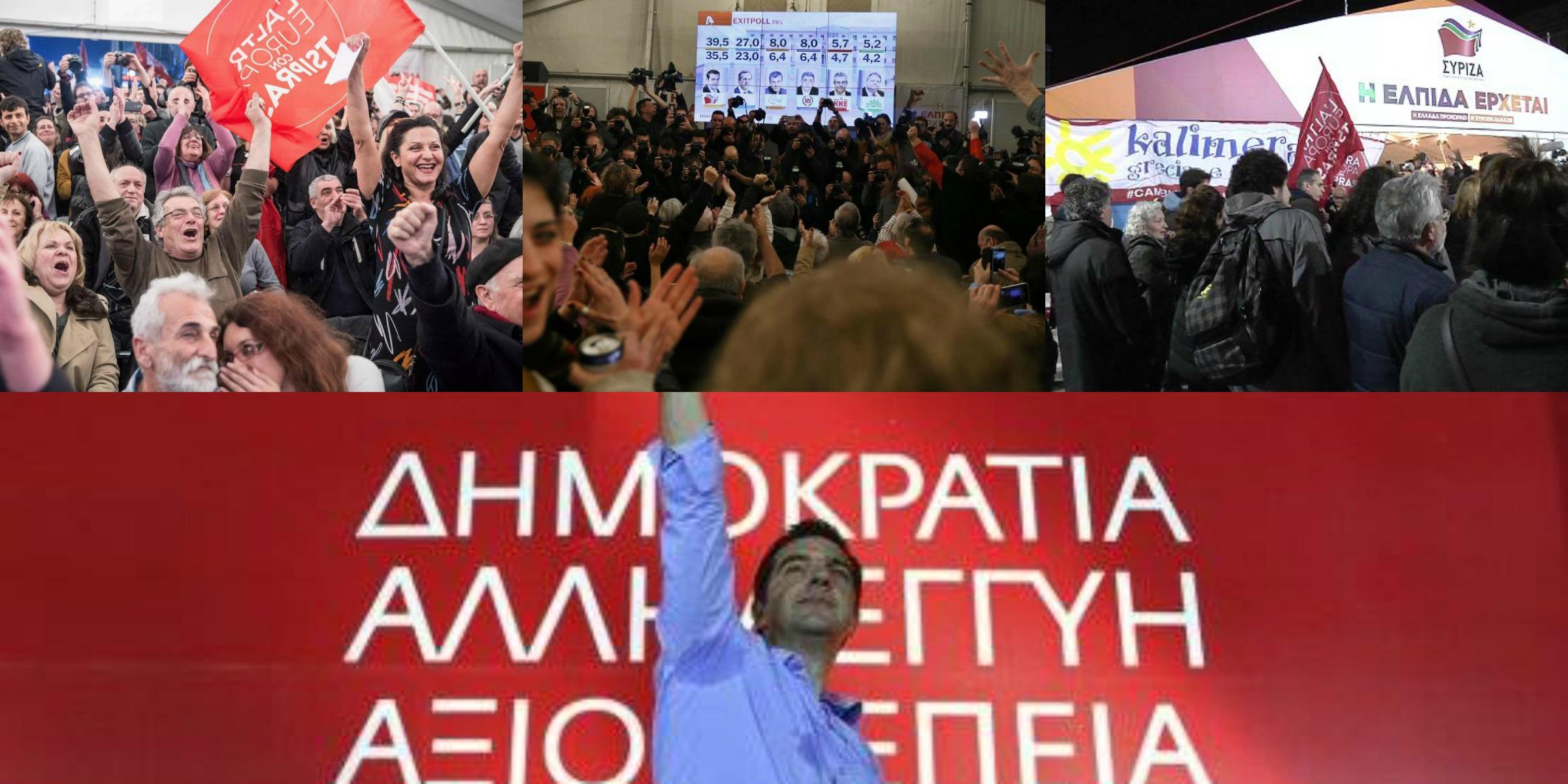 """Tsipras stravince: """"Ridaremo alla Grecia la dignità che merita"""". Vicino l'accordo con la destra di Anel"""