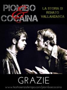 Gli attori Riccardo Merlini ed Alessio Chiodini in una foto di scena