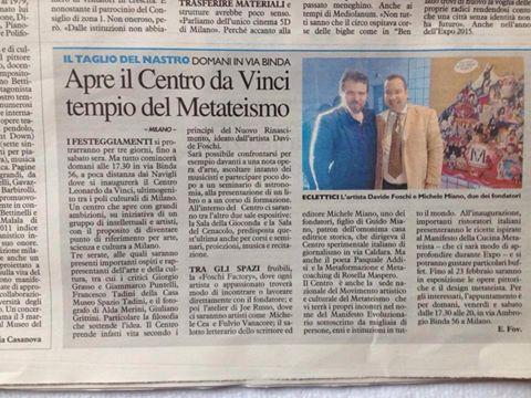 Nuovi progetti per il Centro Leonardo Da Vinci