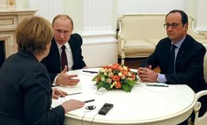 Merkel-Hollande-Putin
