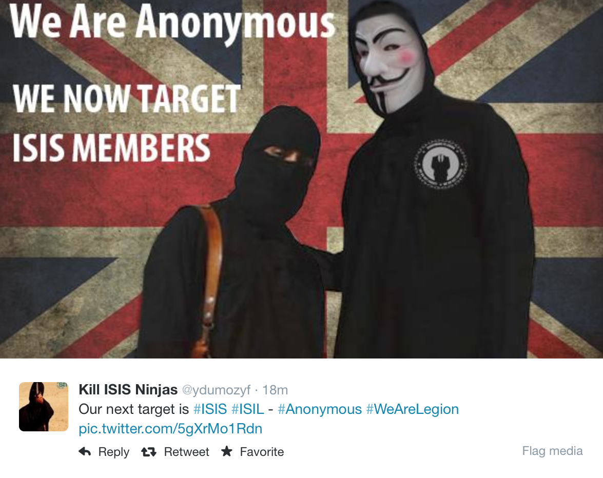 "Anonymous dichiara ""l'OP ISIS"", caccia all'hacker dell'ISIS"