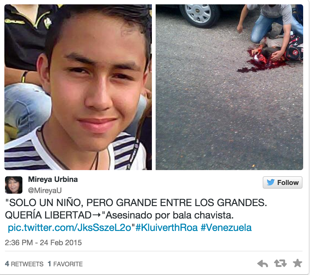 Venezuela, il quattordicenne Kluvier Roa è la 44esima vittima della rivolta anti-Maduro