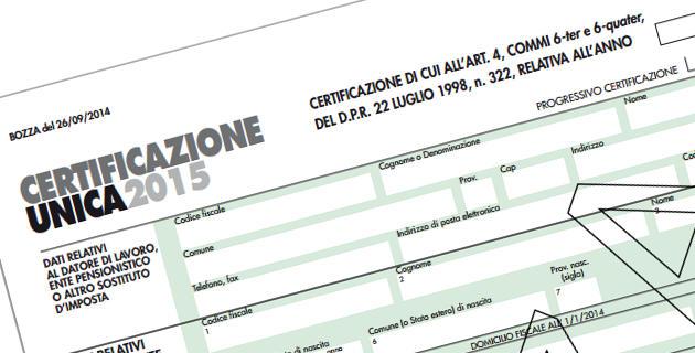 """""""Certificazione Unica"""" al via: on line i software di compilazione e controllo"""