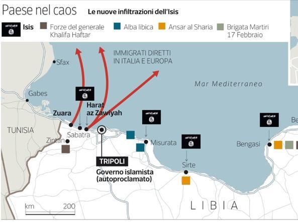 """Libia: l'avanzata dell'ISIS preoccupa l'Italia. Alfano: """"Non c'è più tempo da perdere il Califfato è alle porte di casa, l'Onu si muova per fermarlo"""""""