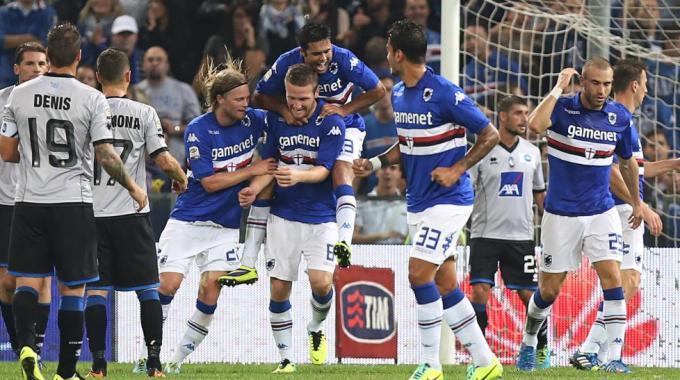 Sampdoria corsara batte in rimonta l'Atalanta