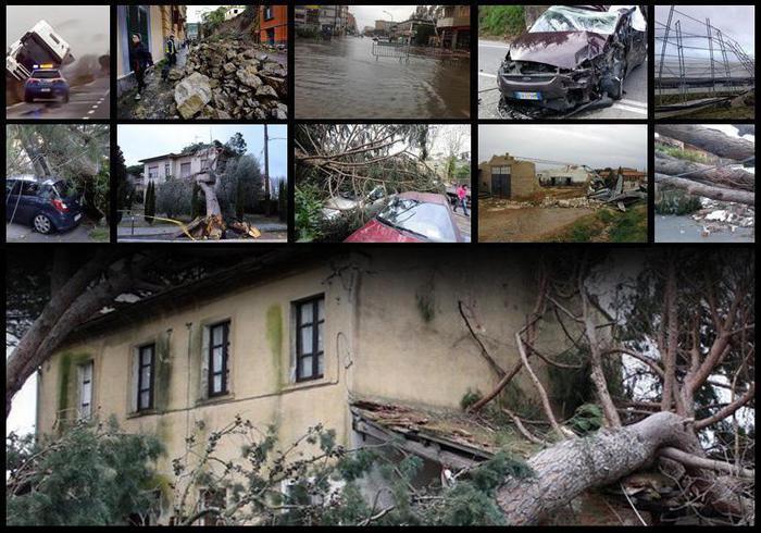 Maltempo, 2 morti, venti fortissimi e allarme in tutta Italia