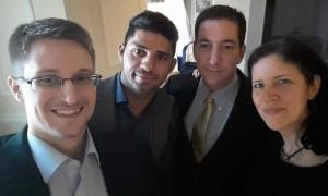 Da sinistra: Snowden, Miranda, Greenwald e Laura Poitras