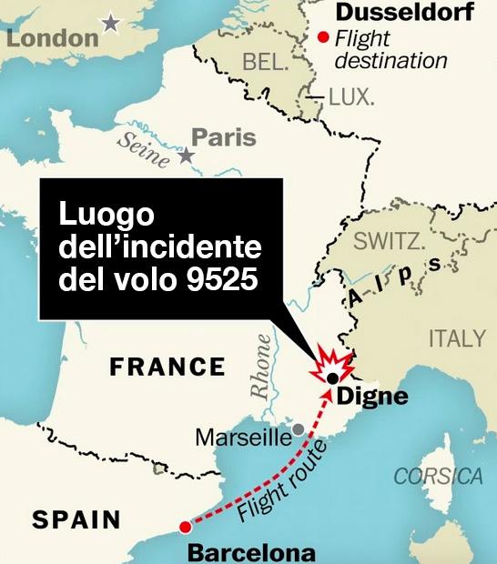 Francia: aggiornamenti sull'incidente dell'AIRBUS A320 della Germanwings