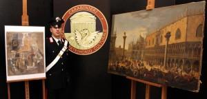 Il Picasso da 15 mln di euro e una veduta di Venezia recuperate dai carabinieri Tpc