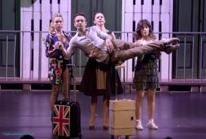 Il cast di Sarà Perchè Ti Amo.  Da sinistra: Lucia Blanco, Giorgio Camandona, Tiziana Lambo e Giada D'Auria
