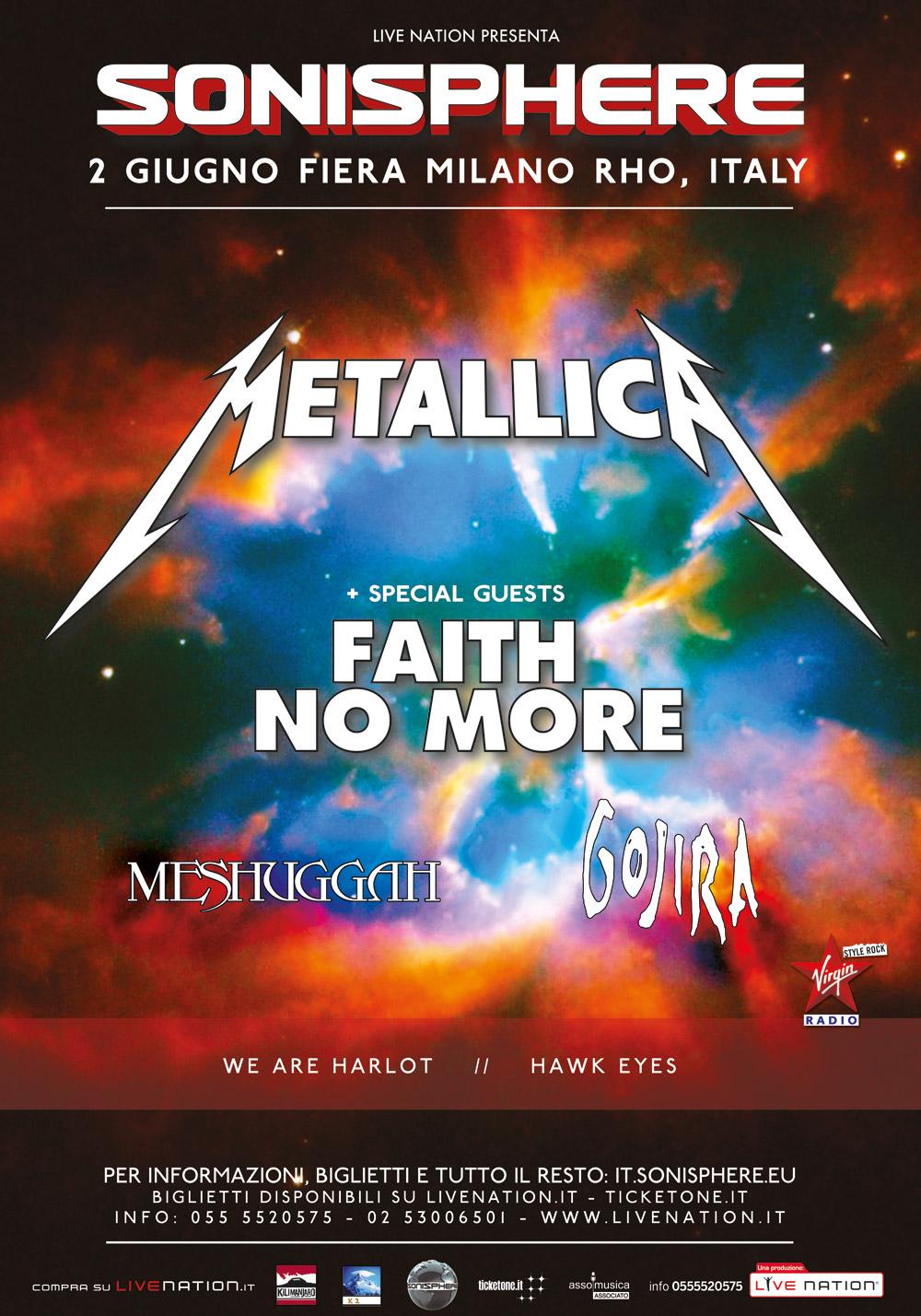 Sonisphere 2015. Annunciate le 4 band che completeranno la line up