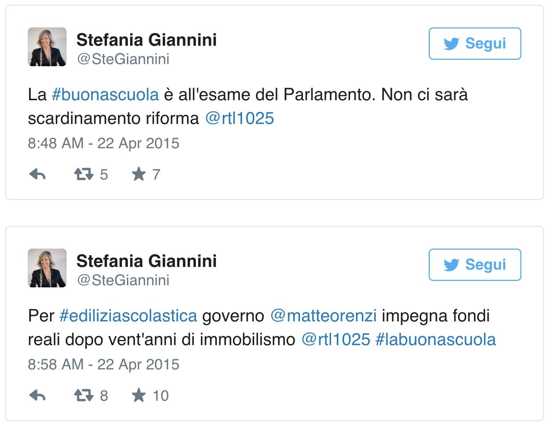 """SCUOLA, GIANNINI A RTL: """"NON TEMO SCARDINI DI IMPIANTO"""""""