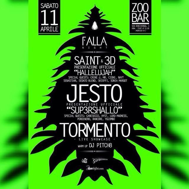 Falla night: Saint, Jesto e Tormento sul palco dello Zoobar