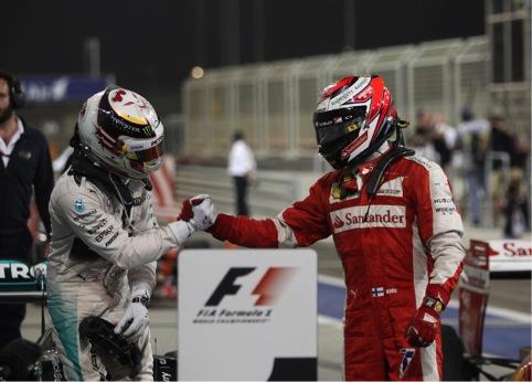 GP Bahrein: ancora Hamilton, gran secondo posto di Raikkonen