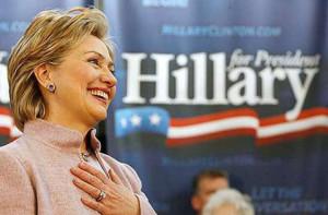 Hillary Cliton, ex segretario di Stato americano durante il primo mandato presidenziale di Obama