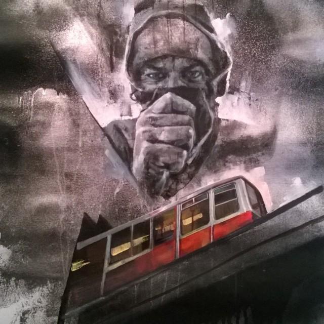 Tra spray e pittura: Walter Molli