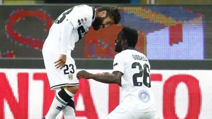 Scossa Parma, scivola l'Udinese