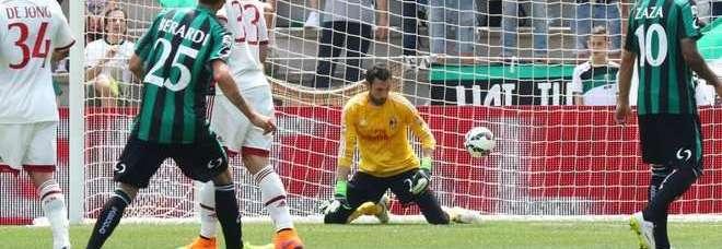 Berardi fa tripletta e il Milan crolla 3-2