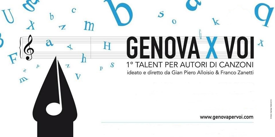 Genova X Voi, il primo talent dedicato agli autori: iscrizioni aperte fino al 15 giugno