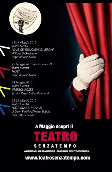 """""""Faust"""", """"Personnages"""" e """"Footloose"""", trilogia di grandi spettacoli al Teatro Hamlet di Roma"""