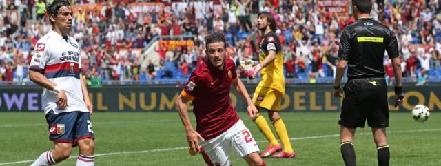 La Roma batte il Genoa e sorpassa la Lazio