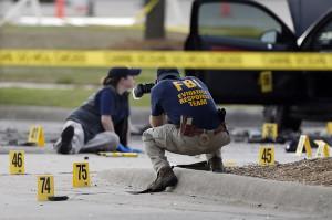 La scena dell'attacco di Garland Texas Foto: BuzzFeed