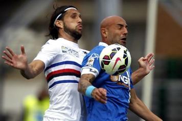 Sampdoria quasi fuori dall'Europa League, a Empoli è 1-1