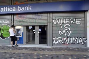 Negozi chiusi in Grecia a causa della crisi