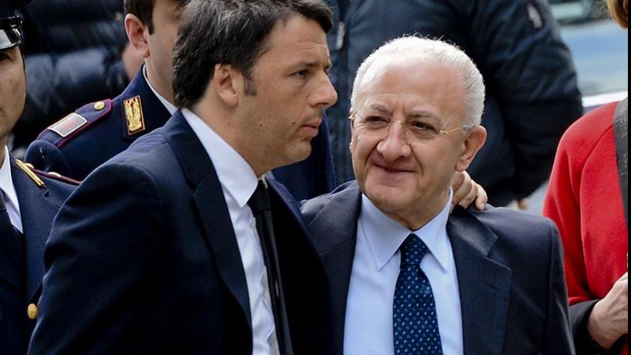 Renzi: «De Luca è un caso inedito ma la legge Severino vale anche per lui»