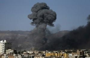 Una delle fasi del raid aereo Foto: Arabpress.eu