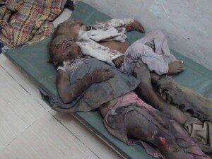 Una vittima innocente di questo conflitto drammatico Foto: Reuters
